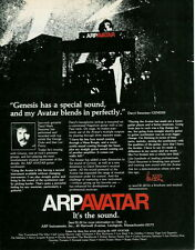 1978 DARYL MARK STEURMER OF GENESIS IN AN ARP AVATAR SYNTHESIZER AD