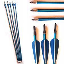 5 LEGA Archery FRECCE CON ON / OFF punta Broadhead Compatibile Vestiti tutti Fiocchi