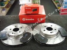 RENAULT MEGANE 225 F1 CLIO SPORT 197 BRAKE DISC BRAKE PAD BREMBO CROSS DRILLED