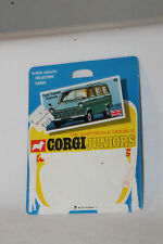 CORGI JUNIORS #40 FORD TRANSIT CARAVAN CARDBACK BLISTERPACK CARD, LOT C