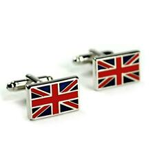 BRITISH FLAG CUFFLINKS Union Jack UK ENGLAND NEW w GIFT BAG Pair Men's English