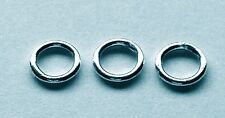 10 x 6mm Sterling Silver Closed Jump Rings 0.9mm 19 Gauge
