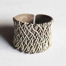 Silver Us=8 Uk=P,Adjustable Ring Karen Hill Tribe