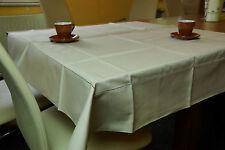 Halbleinen Tischdecke Beige 110x110 Gastronomie Home Deko Tischwäsche neu OVP 19