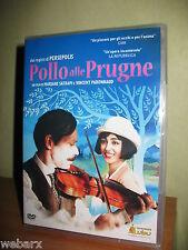 POLLO ALLE PRUGNE DVD NUOVO SIGILLATO MARJANE SATRAPI VINCENT PARONNAUD