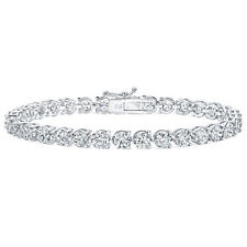 5.00 Ct Ladies Round Cut Diamonds Tennis Bracelet In 3-Prong Setting