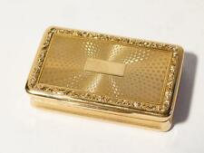 Antique 19thC European 18K - 18ct Gold Snuff Box - Beautiful Museum Quality