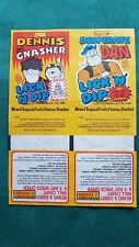 VERY RARE BARRATT CONFECTIONERY DENNIS & GNASHER/DESPERATE DAN WRAPPERS-UNCUT