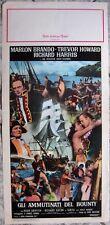 Locandina AMMUTINATI BOUNTY Mutiny Marlon Brando MGM og Italy 1962