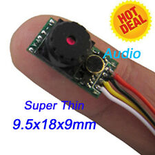 Weight 3g  0.008 low lux Super Thin Mini Cmos Camera Module with Audio Recording