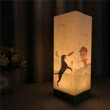 Warm White Paper Shadow USB LED Night Light Lamp for Home Children's Gift Dog