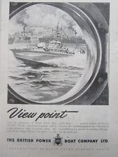 9/1945 PUB BPB BRITISH POWER BOAT CRAFT RESCUE LAUNCHES MTB MGB ORIGINAL AD