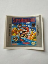 LABEL / STICKER FOR NINTENDO GAMEBOY SUPER MARIO LAND DX GAMEBOY (NOT GAME)