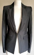 Next Signature Tailored Grey Pin Striped Fitted Jacket Size 6 BNWT RRP £70