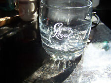 Crown Royal Whiskey Rocks Lowball Glass Nice Etched Weighted Logo