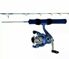 "HT Ice Blue Ice Fishing Spinning Combo 24"" Super Light"