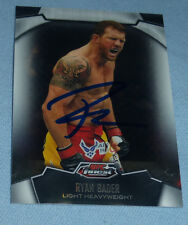 Ryan Bader Signed UFC 2012 Topps Finest Refractor Card #20 PSA/DNA COA Autograph
