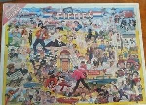 """White Mountain Jigsaw Puzzle: The Fifties 1000 Piece 24"""" x 30"""" # 1965 New Sealed"""