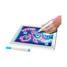 CHILD'S Light Up Drawing Board COLOUR DRAW CREATE MARKERS Included Lights Up