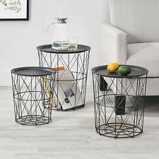 en.casa Tavolino da Salotto a Forma di Clessidra Tavolino dAppoggio Struttura in Metallo Piano in MDF Color Nero