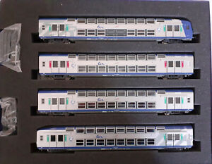 NEUF****** HO VITRAINS 1008 SET 4 VOITURES VB2N CENTRE SNCF