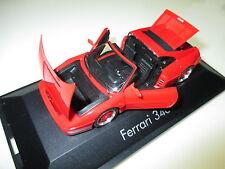 Ferrari 348 ts targa en rouge rouge rosso roja red, HERPA en 1:43 en boîte rims red!