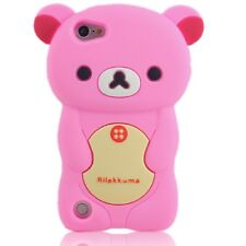 BABY PINK TEDDY BEAR Silicone Back Case, Suits iPod Touch 5, 5th Gen, FREE POST