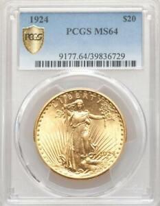 1924 $20 Saint Gaudens Gold Double Eagle ~ PCGS MS 64