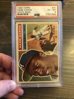 1956 Topps #31 Hank Aaron HOF Milwaukee Braves PSA 6 EX-MT 3rd Card! Beautiful!