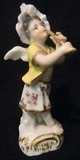Rare 18thc LUDWIGSBURG Porcelain FIGURINE Young Girl CHERUB PLAYING A RECORDER