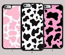 Cow Print Pink Phone Case for Apple iPhone iPod / Samsung Galaxy Hard Cover