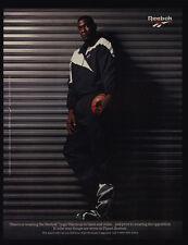 1995 SHAWN KEMP - REEBOK Logo Warm Up Clothes & Basketball Shoes VINTAGE AD