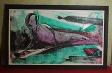 Abstrakte antike & künstlerische Aquarelle auf Papier
