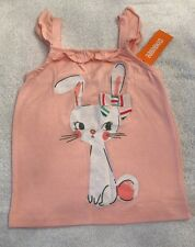NWT Gymboree Ice Cream Parlor Pink Sparkle Bunny Tank Top Size 5