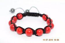 Bracelet Shamballa perles de Corail 10mm - Apaisement / Chance - Lithothérapie