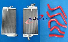 ALUMINUM RADIATOR & HOSE FOR HONDA CR125R CR125 2-STROKE 2004 04 RED