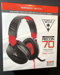 Turtle Beach Ear Force Recon 70 Wired Gaming Headset for Nintendo Switch NEW