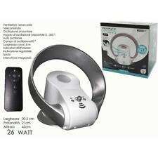 Ventilatore Senza Pale Da Tavolo con Telecomando 30,5 cm Portatile Timer 26 Watt
