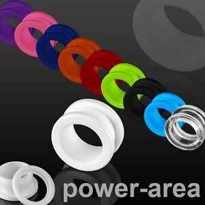 Acryl Kunststoff Schraub Flesh Tunnel Piercing Ohrring 3mm-16mm
