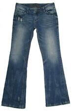 Delias Womens Jeans Bailey Bootcut Junior Size 3 4 R Low Rise Distressed Denim