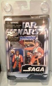 Star Wars Saga collection Luke skywalker (x wing pilot) RARE UNPUNCHED. 2006.