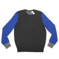 GAP NEW 100% Cashmere Blue Gray Slim Fit Crewneck Men's XL Sweater NWT - 051