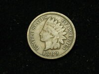 ESTATE SALE FIND 1889 INDIAN HEAD CENT PENNY * NICE COLLECTIBLE U.S. COIN #48h