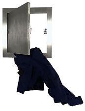 Wäscheeinwurf Wäschschacht Wäscheklappe Tür Klappe Revision Edelstahl 300x300mm