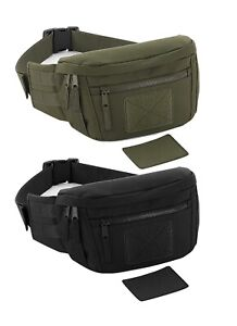 Military Army Green or Black Money Belt Bum Bag Utility Waistpack