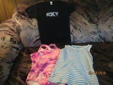 GIRL SIZE 8 LOT OF 3 singlet TANK top CAMI, TEE SHIRT PLUS OP SWIMSUIT PREOWNED