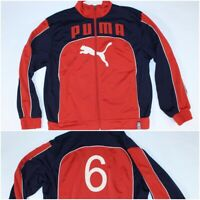 Red White Blue Puma Tracksuit Jogging Track Zippered Jacket Size Small #6
