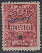 "PANAMA 1904 LATE FEE Sc I3 PERF PROOF + ""SPECIMEN"" MNH VF"