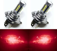 LED 80W 9003 HB2 H4 Red Two Bulbs Head Light Replace Show Use Off Road JDM Style