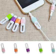 5pcs Protector Saver Cover for Smart Phone Lightning USB Charger Cable Cord HI